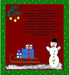 für Weihnachtskarten Text
