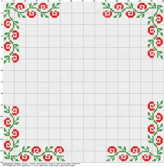 Free rose border (NOT in english, but the pattern is good!)