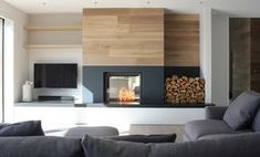Fireplace & TV side