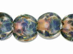 Grace Lampwork Mediterranean Lentil Beads (7pcs)