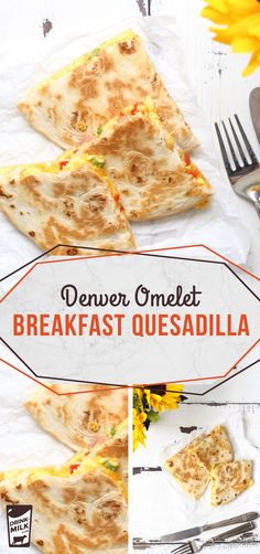 A Denver Omelet Breakfast Quesadilla is a protein-packed breakfast. Breakfast Party, How To Make Breakfast, Breakfast Dishes, Breakfast Recipes, Quesadillas, Veg Protein, Easy Homemade Salsa, Breakfast Quesadilla, Cooking Recipes