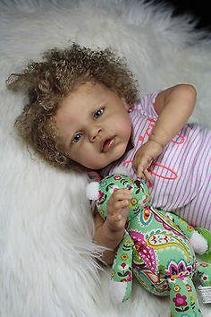 Beach-Babies-Reborn-Biracial-Ethnic-AA-Baby-Girl-Doll-Angelina-Strydom-No-Resrv