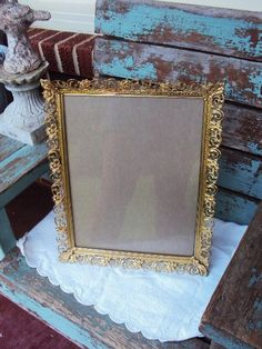 Vintage Metal Picture Frame Hollywood by primitivepincushion, $29.99