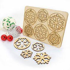 12 Laser Cut Snowflake Christmas Decorations