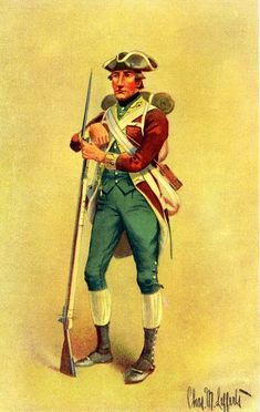 This is the best database of uniforms of the American Revolution that I have ever seen. (click 'uniforms index' at the bottom to see them all)