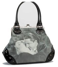 Rock Rebel Bela Lugosi Dracula Handbag with Kisslock Closure.
