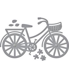 Spellbinders Die D - Lites 3 Pack Etched Dies - Bicycle - Paper Crafting - Die-Cut Machines - Dies &