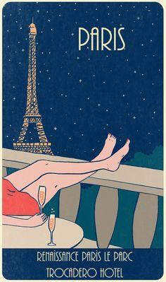 La Tour Eiffel, Paris, France, Champagne