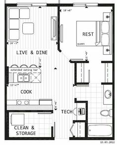 Tiny home house plans best home plans images in tiny house plans small house plans future . tiny home house plans Garage Apartments, Small Apartments, Small Apartment Layout, Small Apartment Plans, Apartment Floor Plans, Apartment Ideas, Small House Plans, House Floor Plans, Tiny Home Floor Plans