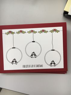 Christmas And New Year, Christmas Cards, Xmas, Tim Holtz, Creative Cards, Diy Cards, Painted Rocks, Gift Tags, Cardmaking
