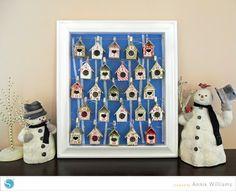 Birdhouse Advent Calendar by Annie Williams #silhouettedesignteam