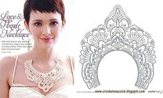 Free crochet patterns necklace (Looks like it would work well for the yoke of a bodice, too.)