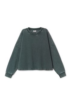 Weekday image 6 of Eddie Sweatshirt in Turquoise Greenish Dark