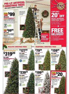 Home Depot Black Friday 2017 Ads and Deals As usual, Home Depot is one of the best Black Friday sales for huge discounts on major appliances, home improvement, tools, and gardening items. Christmas Trees Online, Pre Lit Christmas Tree, Home Depot Coupons, Best Black Friday Sales, Home Appliance Store, Plans, Home Improvement, Home Appliances, Lights
