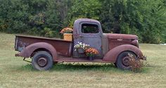 Hubby Have an old junk car he won't part with? Turn it into yard art.