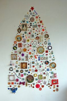 wall collage idea for Kjell's junk toy collection