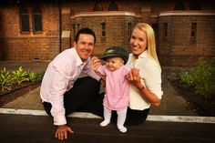 Ricky Ponting, wife Rianna and 9-month-old daughter Emmy