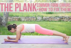 Common form errors in plank exercise and how to correct them