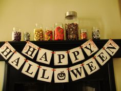 halloween banner decoration sign banner photoprop by bekahjennings, $20.00