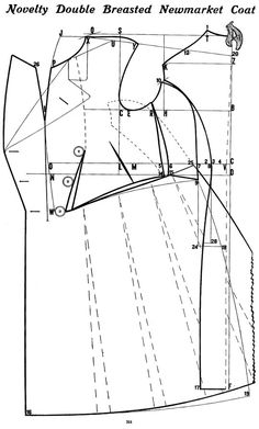 The Frock Overcoat Variant of the frock overcoat was published by Croonsborg (who calls this variant a Newmarket coat) Costume Patterns, Coat Patterns, Clothing Patterns, Sewing Patterns, Dress Patterns, Sewing Coat, Sewing Clothes, Pattern Cutting, Pattern Making