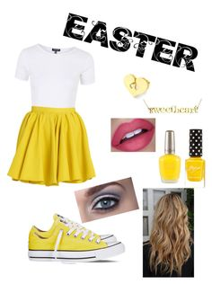 """""""EASTER"""" by superfabulouzz ❤ liked on Polyvore featuring Topshop, Merci Me London, Converse, Gabriela Ramirez Michel and Easter"""