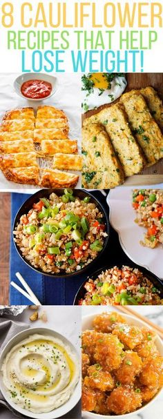 cauliflower recipes cauliflower rice | cauliflower pizza | cauliflower fried rice | cauliflower mashed potatoes| Cauliflower lose weight | cauliflower kid meals | healthy meals |vegan meals |Cauliflower breadsticks | cauliflower muffins (can modify with coconut flakes and arrowroot for some to be paleo)