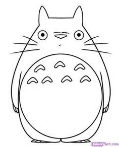 Totoro Outline - Bing images