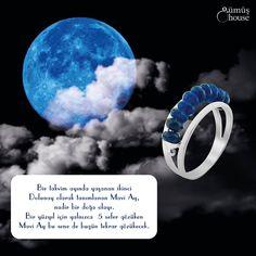 Yüz yılda sadece beş sefer görünen 'Mavi Ay' doğa olayı bu akşam görüntülenecek! Mavi Ay'ı Safir Taşlı #Gümüş #Yüzük ile hergün görmeniz mümkün.   gumushouse.com/  Stok Kodu : HLMNTV35  #gumushouse #safirtasliyuzuk #gumusyuzuk #bayantaki #moda