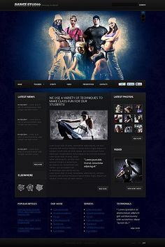 Dance Studio Flash CMS Templates by Astra