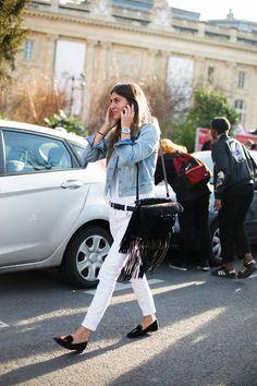 Street Style en Paris Fashion Week, marzo 2015 © Josefina Andrés