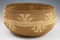 Northwest Coast Native American Indian Baskets, - Klamath Basket