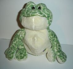 Ganz Webkinz Green White Spotted Frog HM142 Plush Only No Code  #GANZ