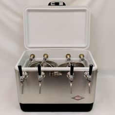 9e08ff25ab7b4 Details about 54qt Stainless Steel 4 Tap Jockey Box w  75  Coils