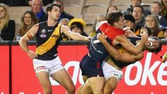 Viney standing his ground as Alex Rance Punches Vineys teammate Jack Watts in back of head