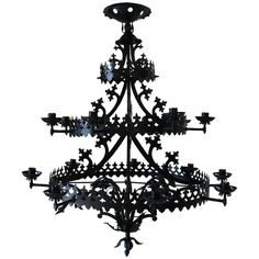 Large Gothic Revival Chandelier, France, 1940s | From a unique collection of antique and modern chandeliers and pendants  at https://www.1stdibs.com/furniture/lighting/chandeliers-pendant-lights/