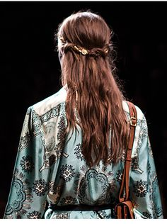 Hair Jewels at Valentino Celine, Runway Hair, Hair Jewels, Cut And Color, Leather And Lace, Hair Goals, Hair Inspiration, My Hair, Short Hair Styles
