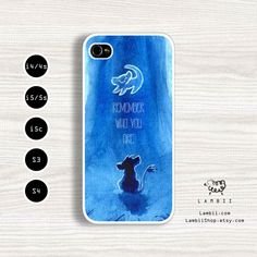 iPhone 4, 4s, 5, 5s, 5c & Samsung Galaxy S4, S3 Cases | Walt Disney, The Lion King Movie, Simba, Quote iPhone 5 Case on Etsy, $19.99