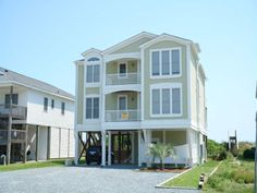 Holden Beach, NC - Mermaids Wish 223 a 5 Bedroom Oceanfront Rental House in Holden Beach, part of the Brunswick Beaches of North Carolina. Includes Elevator, Private Pool, Hi-Speed Internet