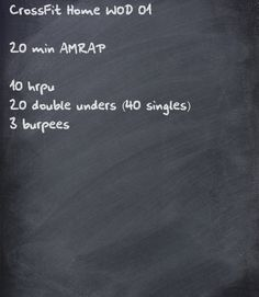 CrossFit home WOD to work on my double unders!