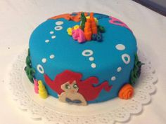 The Little Mermaid Cake - Pequena Sereia - Bolo