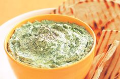Delicious Spinach & Feta Dip. Huge success. Begin your dinner party with this luscious, creamy dip. You can make it up to 2 days ahead.