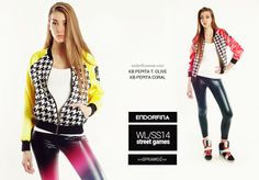 "bomber jacket ""pepita"" ""street games"" collection of on endorfinawear.com"