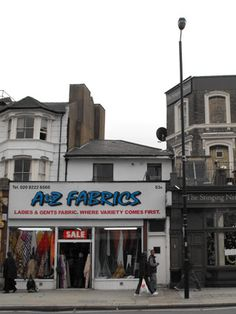 A to Z Fabrics shop front  A one fabric