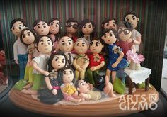 Family Portrait made from polymer clay