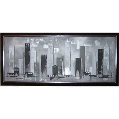 Graham & Brown Hand Painted Skyline Canvas Art - X - 43275 - Canvas Art - Wall Art & Coverings - Decor Contemporary Wall Art, Modern Artwork, Canvas Frame, Canvas Art, Canvas Prints, Joss And Main, All Modern, Poster Prints, Skyline
