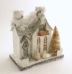 Mica Putz House Swan Vintage Style Christmas Village