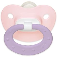 NUK Juicy Puller Silicone Pacifier in Assorted Colors, 0-6 Months ($6.89) ❤ liked on Polyvore featuring baby, ddlg, filler and pacifier