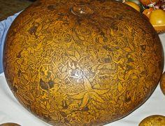 Peruvian carved gourd