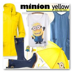 """""""Minion Yellow"""" by beebeely-look ❤ liked on Polyvore"""