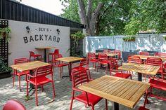 Outdoor Restaurant Design, Deco Restaurant, Restaurant Exterior, Restaurant Seating, Rustic Restaurant, Restaurant Interior Design, The Porch Restaurant, Cafe Shop Design, Coffee Shop Interior Design